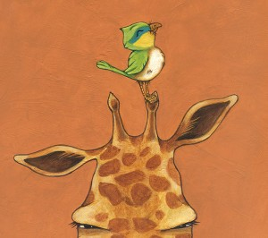 Bird Perches on Giraffe (Giraffe and Bird)
