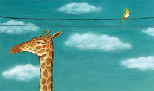 Getting Along is Difficult (Giraffe and Bird)