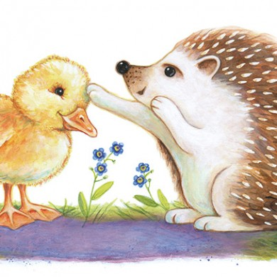 Hedgehog with Duckling