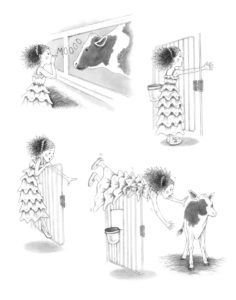 Spot Illustrations - Exploring the Barn (Penguin Days)